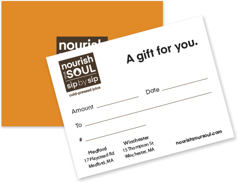 Nourish Your Soul Gift Card